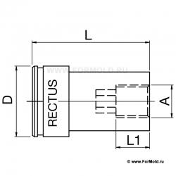 Муфта, 2-10112-00738 (Rectus 612SFIW17MXN). Parker  БРС для охлаждения, БРС для воды, Быстроразъемные соединения для охлаждения