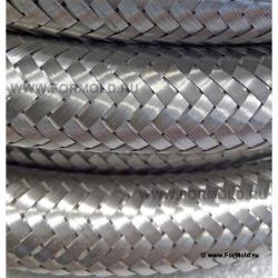 Шланг для горячей воды и пара, в металлической  оплетке (Silicone, T до +170˚C). Шланг фото. Шланг пар. Шланг в оплетке