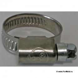 Хомут червячный мм для шланга (стальной оцинкованный) Размеры 20-32, 12-20, 16-25, 8-14, 10-16, 12-22, 16-27, 23-35, 30-45 32-50