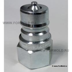 Ниппель с внутренней резьбой (с клапаном). БРС ISO A. Гидравлические быстроразъемные соединения ISO 7241-1. БРС Parker Hannifin