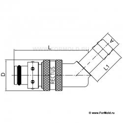 Ниппель, 2-10108-10010/A3 (Rectus 608KFTH10MVN). Parker. БРС для воды, БРС для охлаждения, Быстроразъемные соединения для воды