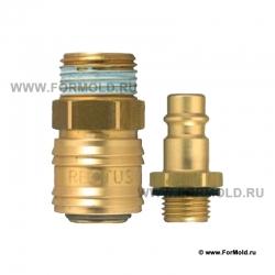 Быстросъемное соединение для воздуха Rectus 26. БРС Rectus 26. Быстросъемные соединения для пневмоинструмента. Rectus type.