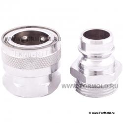БРС для воды (3/4 дюйма), Tekno-met T160. Быстросъемные соединения для воды из хромированной латуни. Для шлангов