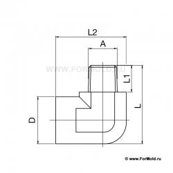 Муфта, 2-10108-00338/A6 (Rectus 608SFAR17MXN). Parker. БРС для воды, БРС для охлаждения, Быстроразъемные соединения для воды