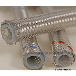 Шланг для горячей воды и пара, в металлической оплетке (Silicone, T до +170˚C). Шланг фото. Шланг в оплетке из нержавейки