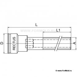 Муфта, 2-10108-00218/L100 (Rectus 608VN1010MXN). Parker. БРС для воды, БРС для охлаждения, Быстроразъемные соединения для воды