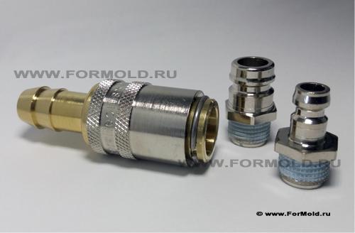 БРС Parker Rectus type 10, Rectus соединения 11, Rectus 10. БРС для воды,  Быстроразъемные соединения для шлангов пресс-форм.