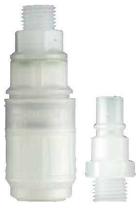 Parker Rectus 48 (Rectus BT). Соединения этой серии изготавливаются из POM и PVDF. Они специально разработаны для использования в медицинской, химической, пищевой, фармацевтической и научно-исследовательской отраслях промышленности.